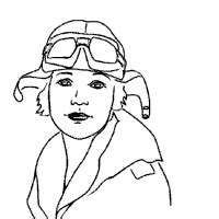 famous people amelia earhart 187 coloring pages 187 surfnetkids