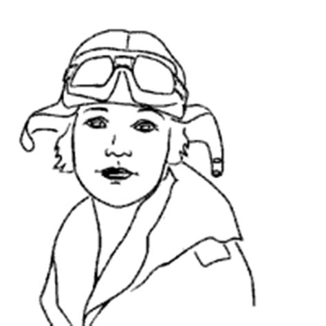 emilia earhart colouring pages