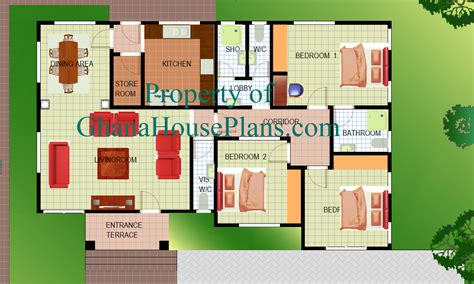 1 5 Story Open Floor Plans by Ghana House Plans Mcguire House Plan