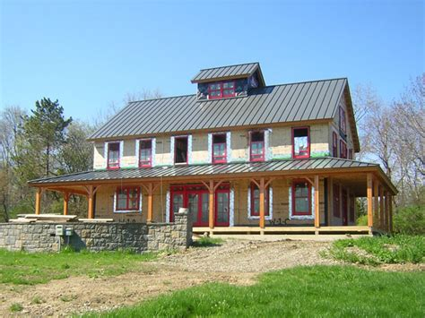 House Plans With Wrap Around Porches Barn Kitchen Ideas House Plan Pole Barns Homes Pole Barn