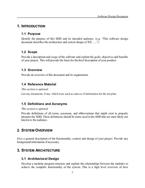 system design document template sdd template