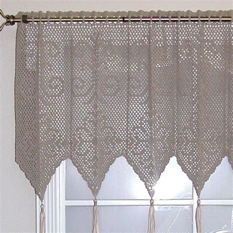 pattern curtains valance patterns free crochet images