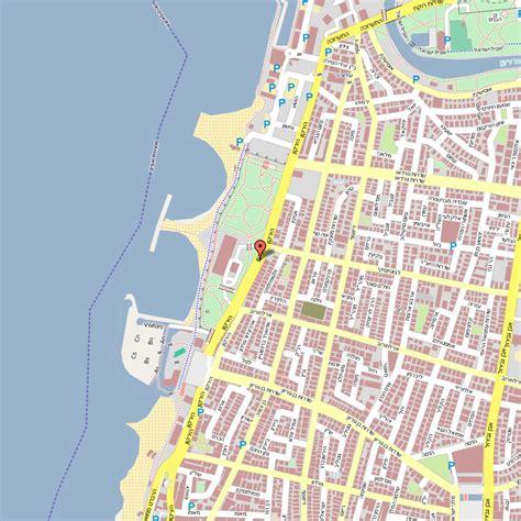 tel aviv map maps update 10001471 tourist map of tel aviv maps of