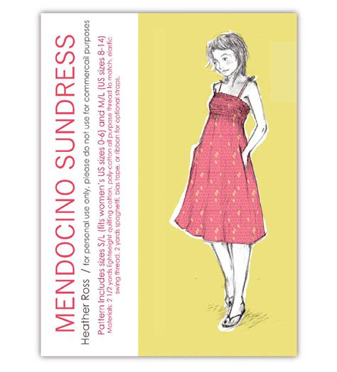 download pattern clothes download mendocino sundress pattern heather ross