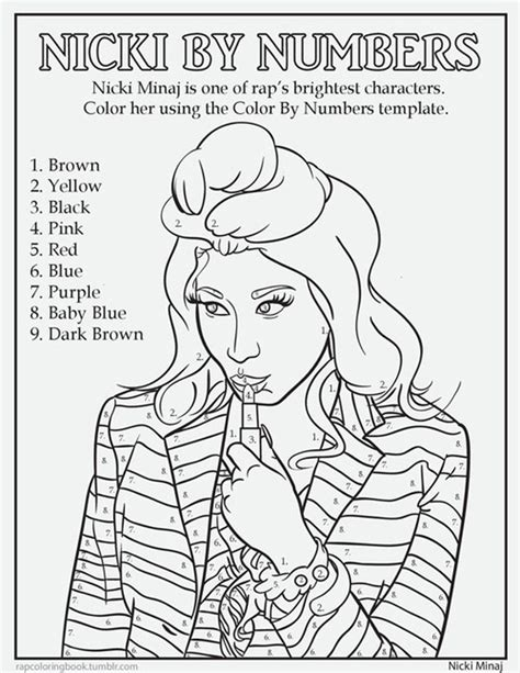 nicki minaj coloring pages rap coloring book shows hip hop