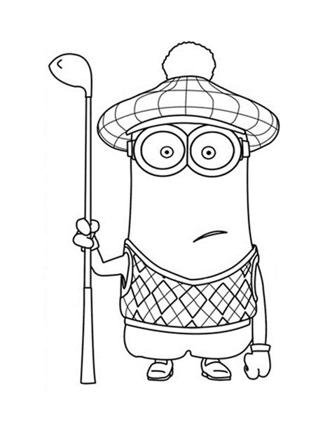 minions kevin coloring pages minion coloring pages