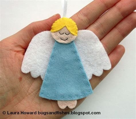 pattern felt angel bugs and fishes by lupin how to felt angel ornament 2