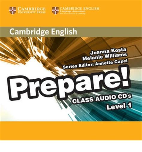cambridge english prepare level cambridge english prepare level 1 class audio cds 2 joanna kosta 9780521180467