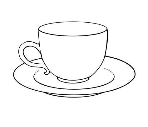 free coloring pages of tea cups