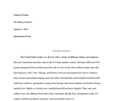 Coming To America Essay by The Effects Of Immigration Into The Us In The 19th Century A Level History Marked By