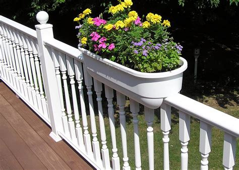 Deck Railing Flower Planters by Deck Gardening Pineridge