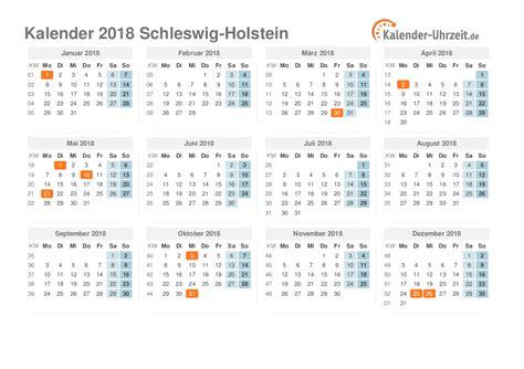 Kalender 2018 Mit Feiertagen Schleswig Holstein Feiertage 2018 Schleswig Holstein Kalender
