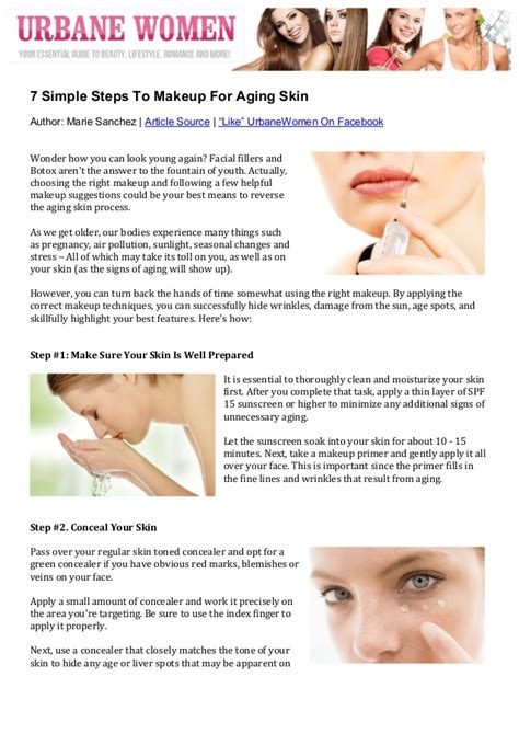 7 Steps To Skin by 7 Simple Steps To Makeup For Aging Skin