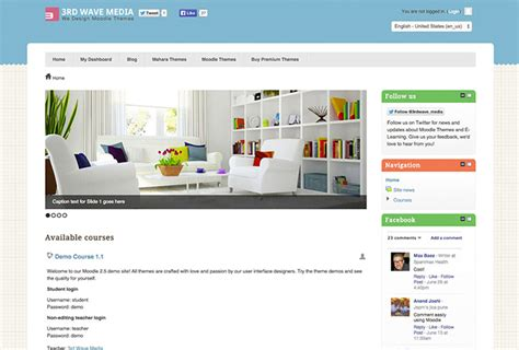 moodle theme gourmet beautiful responsive moodle and mahara themes