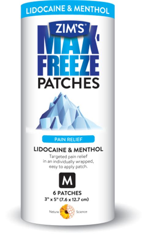 Lidocaine Shelf by Perfecta Products Introduces Zim S Max Freeze Patches With Lidocaine And Menthol Business Wire