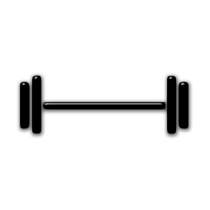weight lifting icon #047525 » icons etc