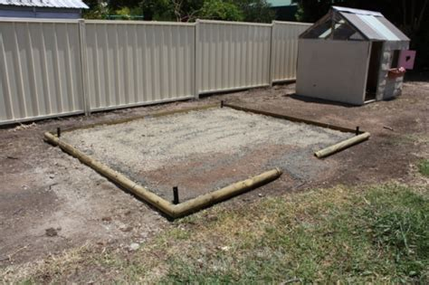 Garden Shed Foundations by Loen Shed Foundation For Outdoor Shed