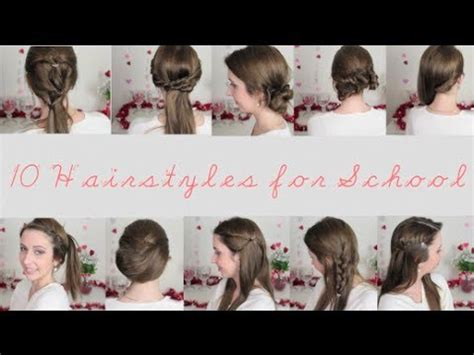 easy hairstyles for school youtube 10 quick easy hairstyles for school spreadinsunshine15