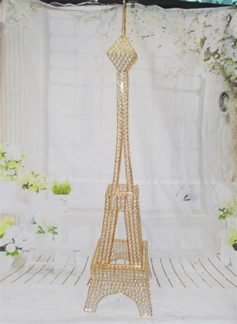 Gold Eiffel Tower Vases by 4ft Gold Bead Metal Eiffel Tower Statue Vase