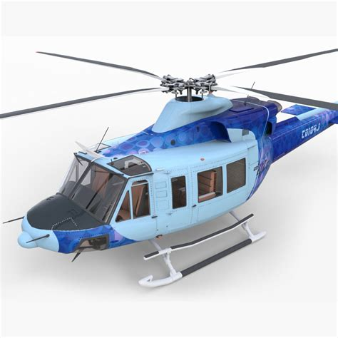 Heli Bell 412 Ep bell 412 ep with cockpit 3d model max obj 3ds fbx c4d