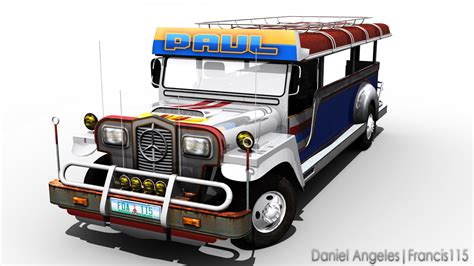 philippine jeep drawing 3d cg jeepney by francis115 on deviantart