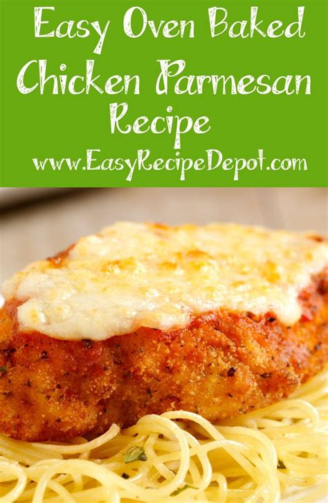 easy oven baked chicken parmesan recipe oven baked