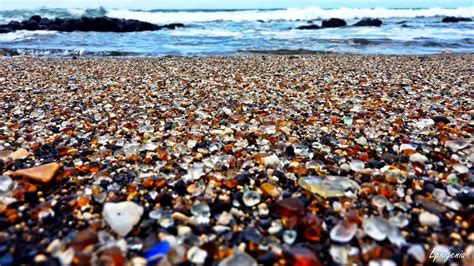 beach of glass glass beach the beach that was created by a pile of