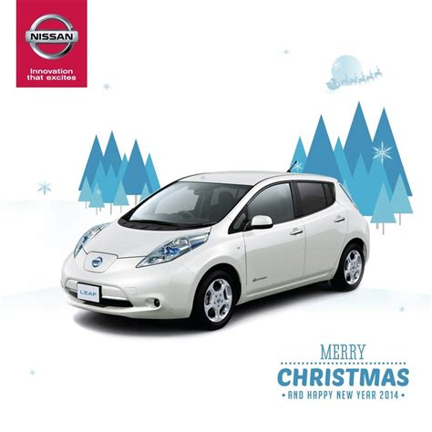 nissan christmas nissan merry christmas and happy new year 2014 leaf