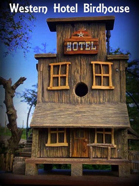 western hotel birdhouse birdhouses handcrafted birdhouse