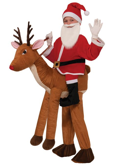 reindeer costume child ride a reindeer costume