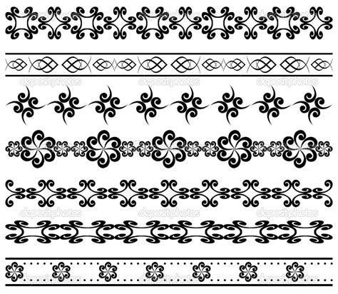 pattern frame vector simple geometric designs vector set of geometric borders