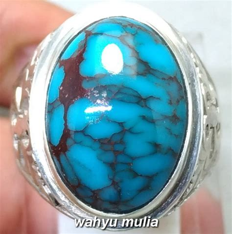 Batu Akik Ada Urat Kode 45 batu akik phirus biru urat merah asli kode 937