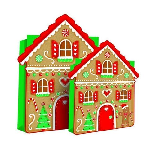 christmas gingerbread house to buy large christmas ginger bread house bag buy online at qd stores