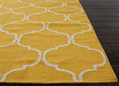 Yellow Area Rug Flat Weave Rug Yellow Geometric Area Rug Solid Yellow Area Rug Design Trends Graindesigners