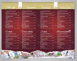 Free Menu Templates For Restaurants by Restaurant Menu Template For Mac Pages Cover Letter