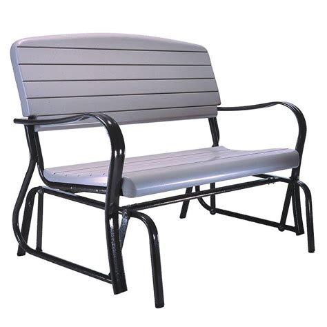 porch glider bench lifetime outdoor patio glider bench 2871 the home depot