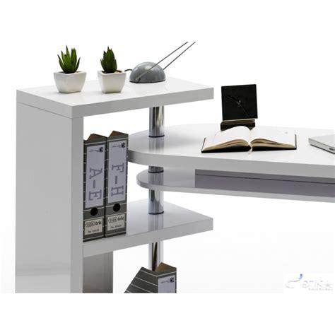swivel computer desk mattis white lacquered swivel computer desk office