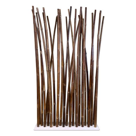 bamboo room dividers black bamboo room divider on white steel base plate 100 x 180 cm