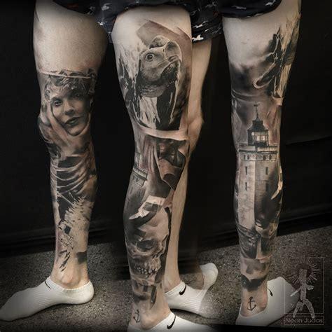 catrinas tatuajes pierna
