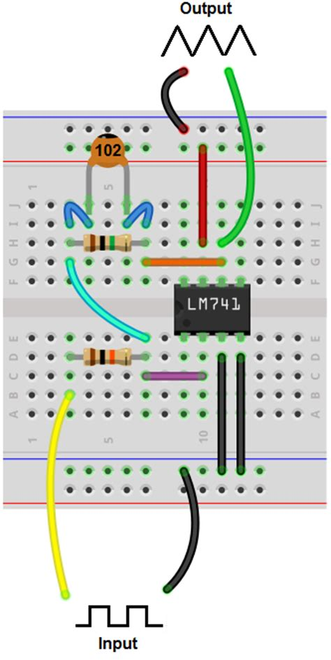 how to build a integrator op circuit