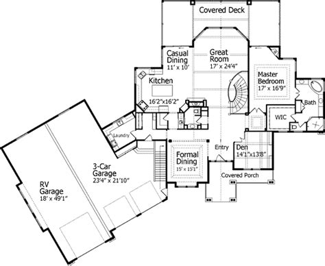 home plan with rv garage 9535rw craftsman
