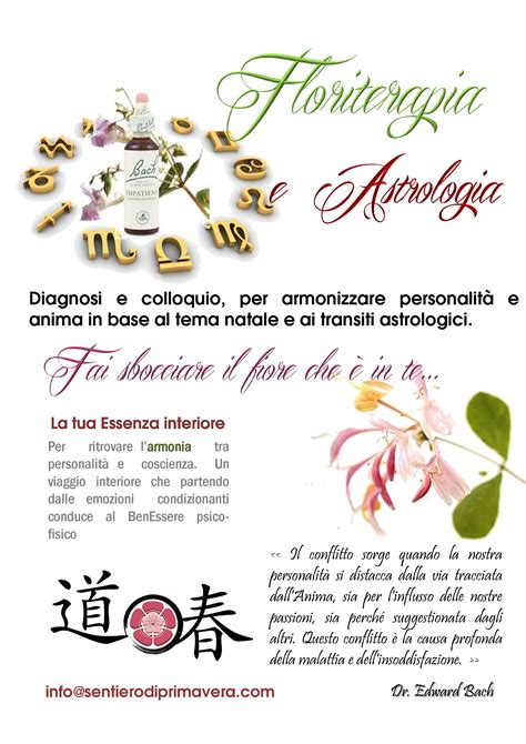 fiori di bach numeri floriterapia e astrologia