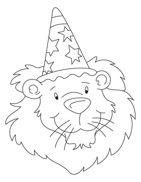 birthday lion coloring page bholu the birthday lion coloring page download free