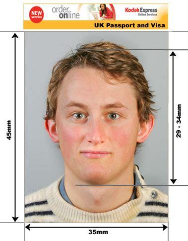 uk passport size photo template uk passport and visa photos