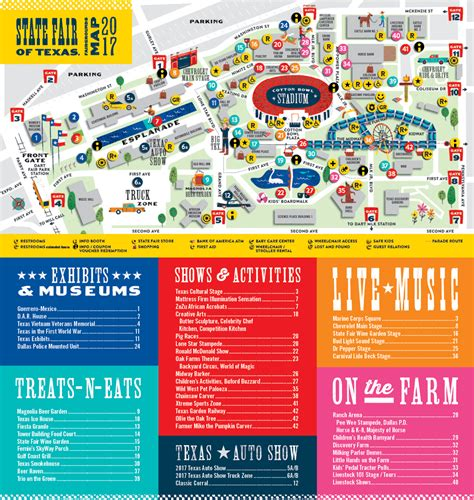 state fair of texas map fairgrounds map state fair of texas