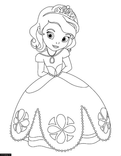 disney sofia the first printable coloring page