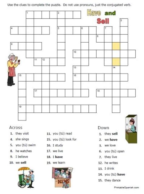 easy spanish crossword puzzles printable spanish worksheets printables printable crossword puzzle