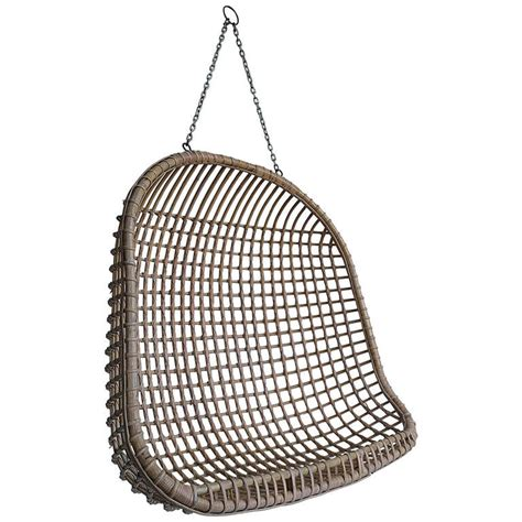 rattan hanging chair rare two seat rattan hanging egg chair at 1stdibs