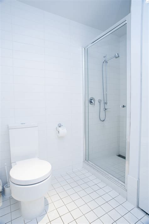 image of interior of a clean fresh white bathroom