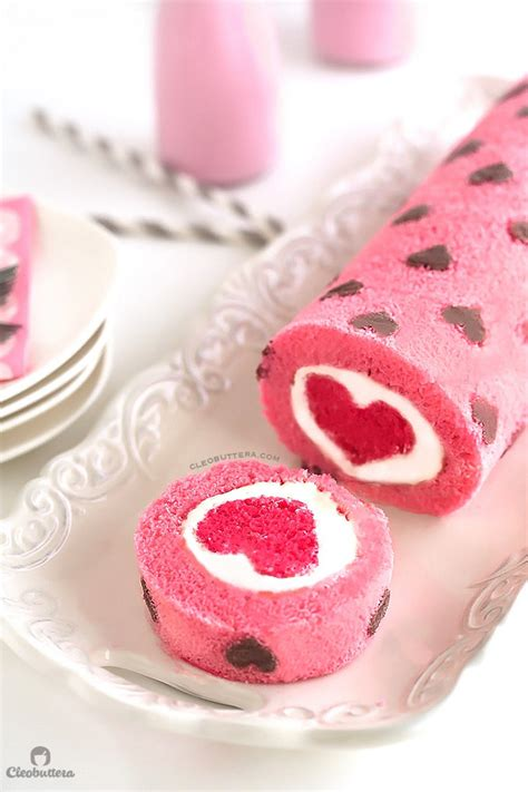 heart pattern cake quot love is all around quot cake roll cleobuttera